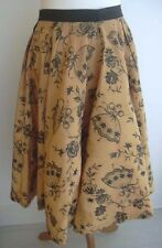 DANCING WOMEN MAIDENS ROSES GREAT MOTIF VINTAGE FULL CIRCLE SKIRT UK 8 US 4