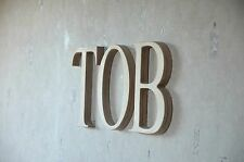 8'' Wall Wood Letters, Unfinished Baby Nursery Letters, Custom Wood Home Decor
