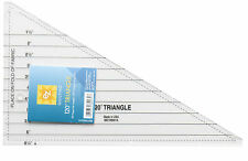 EZ SIMPLICITY 120 DEGREE TRIANGLE, 1/4 DIAMOND angle TEMPLATE Patchwork bNEW