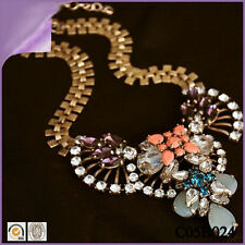 Designer Statement Halskette Collier Kette Vintage Kristall Perlen Trend Neu