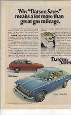 Original Datsun 710 Magazine Ad - ...Means a Lot More Than Great Gas Mileage