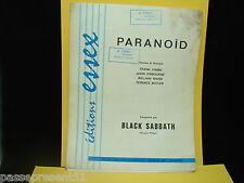 Ancienne partition, Paranoïd, Black Sabbath, 1970