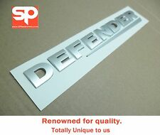 "Land Rover ""DEFENDER"" REAR SILVER Lettering Badge Emblem nt Decal Sticker 90 110"