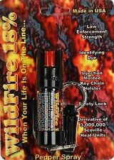 HOTTEST Wildfire 1/2 oz 18% OC-18 QUICK RELEASE Magnum Keychain Pepper Spray USA