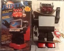 "Vintage Jupiter Giant walking 13"" Television Robot In Box"