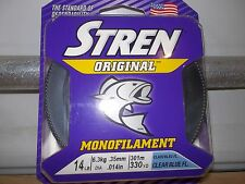 Stren Original fishing line 14 lb test 330 yards clear blue fluorescent New clam