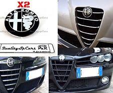 X2 logo ALFA ROMEO EMBLEMA NERO badge 147 159 GIULIETTA GT COFANO E BAGAGLIAIO