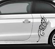 Tribal Butterfly Car Stickers Custom Vinyl Graphic Decals - Various Colours