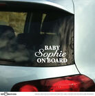 STICKTAK STICKERS Custom Personalised Name BABY ON BOARD Vinyl Car Decal Sticker