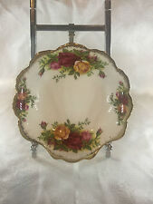 ROYAL ALBERT BONE CHINA CLAM SHELL DISH OLD COUNTRY ROSE