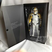 Yellow Clone Trooper Commander - Medicom RAH Star Wars Figure - Sealed in Box