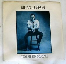 """JULIAN LENNON - TOO LATE FOR GOODBYES - WELL I DON'T KNOW - 45gg 7"""" NUOVO"""
