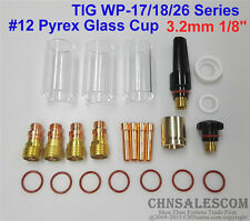 """23 pcs TIG Welding Stubby Gas Lens #12 Pyrex Cup 42mm Long for WP-17/18/26 1/8"""""""