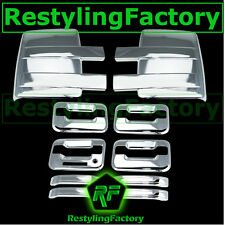 09-14 Ford F150 Chrome Towing Mirror+4 Door Handle+keypad+no PSG keyhole Cover