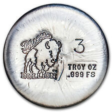 3 oz Silver Round - Bison Bullion - SKU #94977