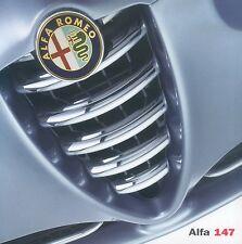 Alfa Romeo 147 Prospekt 10/00 brochure 2000 Autoprospekt Auto PKWs Italien Europ