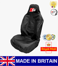 AUDI S-LINE CAR SEAT COVER PROTECTOR SPORTS BUCKET HEAVY DUTY  - FITS A3