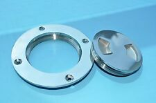 """Boat / Marine 4"""" 316 Stainless Steel Deck Plate"""