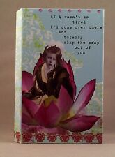 HOLY CRAP by Erin Smith Art WASN'T SO TIRED notebook with accordion file A24745
