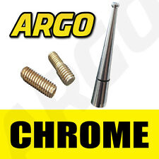 CHROME ALLOY ALUMINIUM BLACK BEE STING CAR MINI AERIAL ANTENNA MAST ARIEL ARIAL