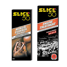 SLICK 50 2 Pack ENGINE TREATMENT 750ml + MANUAL GEARBOX OIL TREATMENT