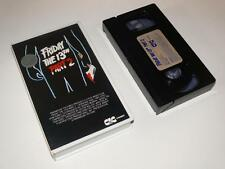 VHS Video ~ Friday The 13th Part 2 ~ Small Case Ex-Rental Pre-Cert ~ CIC Video