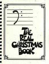 The Real Christmas Book Bass Clef Edition Learn to Play Piano Guitar Music Book