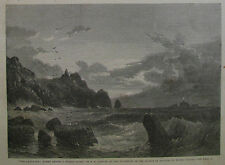 SUNSET BEFORE A STORMY NIGHT BY S P JACKSON 1865 ILLUSTRATED LONDON NEWS