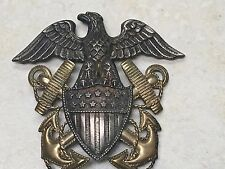 WW2 US Navy Sterling & Gold Hat Badge by Viking
