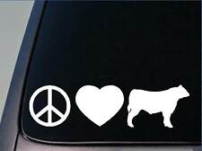 "Peace love Cattle sticker *H136* 8"" vinyl angus hereford"