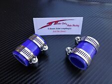 (Blue) Yamaha Banshee Quad exhaust pipe clamps all years fmf,dg, factory ATV