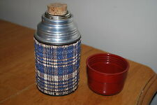 Vintage Aladdin miniature Thermos with cork Stopper - textured & use No. 1