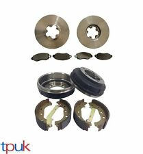 FORD TRANSIT 2.0 FWD FRONT BRAKE DISCS AND PAD SET REAR DRUMS AND SHOES SET
