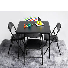 Card Game Gamble Table Chairs Set Folding Padded Party Poker Picnic Furniture