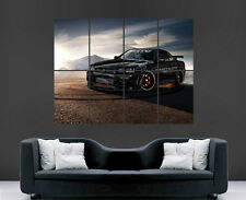 NISSAN SKYLINE CAR POSTER SPEED RACING SUNSET GIANT WALL PICTURE PRINT LARGE