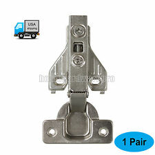 Concealed Kitchen Cabinet Door Hinges Self Closing Full Overlay Nickel-Plated