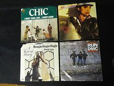 Lot of 4 Vinyl 45  RECORDS - PROMOTIONAL - BOOGIE OOGIE Sa-Fire CHIC Run DMC