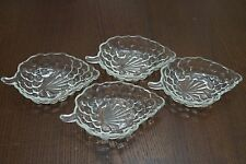 Set of 4 Vintage Grape-shaped Candy Dishes Clear Glass