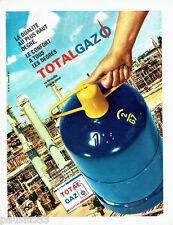 PUBLICITE ADVERTISING 1016  1967  la bouteille butane propane Total gaz