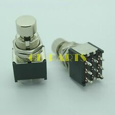 3PDT 9pin Push button Foot Switch FR DIY Guitar Effect Pedal Stomp True Bypass*1