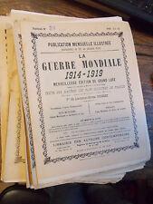 La guerre mondiale 1914-1919 merveilleuse édition de grand luxe /  lot de 30