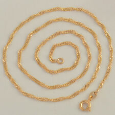 CLASSIC 9K REAL GOLD FILLED WOMENS WAVE CHAIN NECKLACE 45CM ,Z713