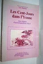 LES CENT-JOURS DANS L'YONNE LEO HAMON DEDICACE DE L'AUTEUR 1988