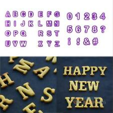 40X Alphabet Letter Number Fondant Cake Biscuit Baking Mould Mold Cookie Cutters