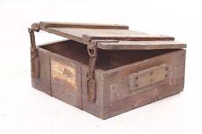 vecchio Scatola munizioni Scatola legno Cassetta per materiale