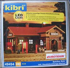 Kibri 9494 / 49494 H0 1:87 BAHNHOF ROHR MIT LED BELEUCHTUNGS-STARTSET NEU
