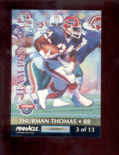 1992 Team Pinnacle THURMAN THOMAS PAT SWILLING Buffalo Bills Saints Insert Card