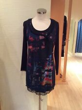 Jean Gabriel 2pc Tunic Top Size 12 Black Multi Print BNWT RRP £105 Now £39