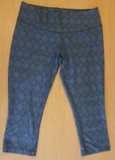 NIKE DRI-FIT PRINTED TEN LESS PLASTIC BOTTLES ONE LEGEND PANT SIZE L CAPRI Gray