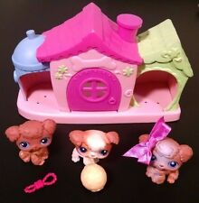 Littlest Pet Shop Playful Puppies 37 38 39 Poodle Dog House COMPLETE Set